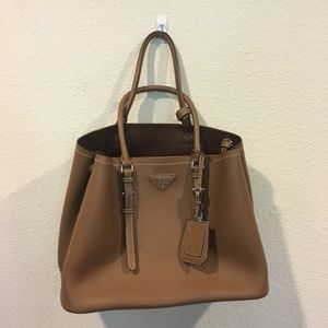 Prada Bags - Prada brown purse with crossbody strap cuir